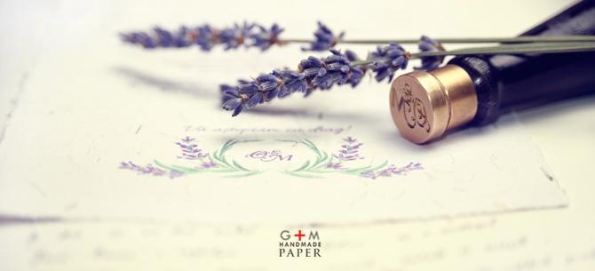 Desen realizat la comanda pentru invitatia de nunta - coronita lavanda