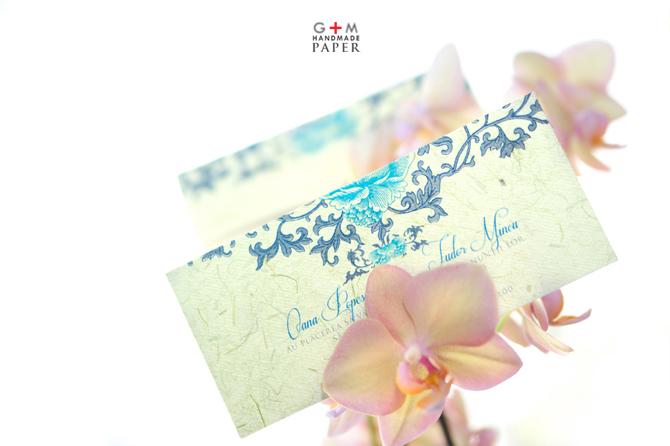 Invitatie de nunta cu ornamente vintage 2013