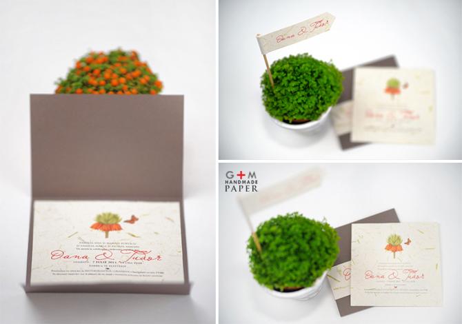 Invitatii-de-nunta-deosebite online cu flori portocalii