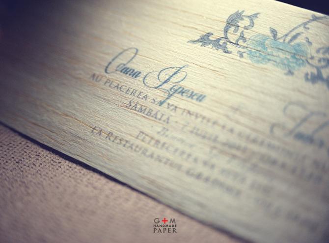 Invitatii de nunta din lemn