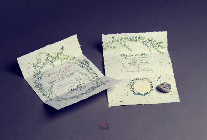 Invitatii de nunta stil boem, invitaatii de nunta inspirate de natura