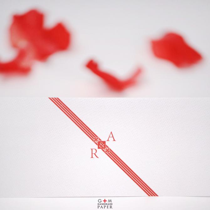 Invitatii nunta regala cu monograma