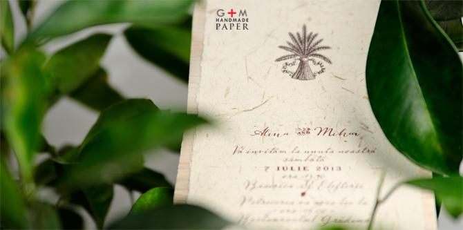 Model invitatie pentru nunta la iarba verde