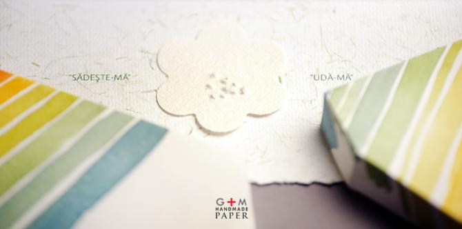 Seminte de flori in hartie pentru invitatia de nunta