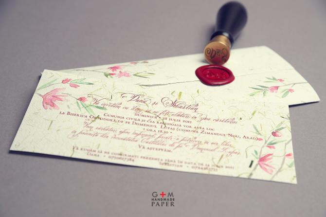Sigiliu de alama - invitatii cu sigiliu de ceara