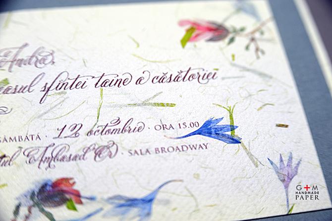 Invitatii de nunta cu fonturi vintage