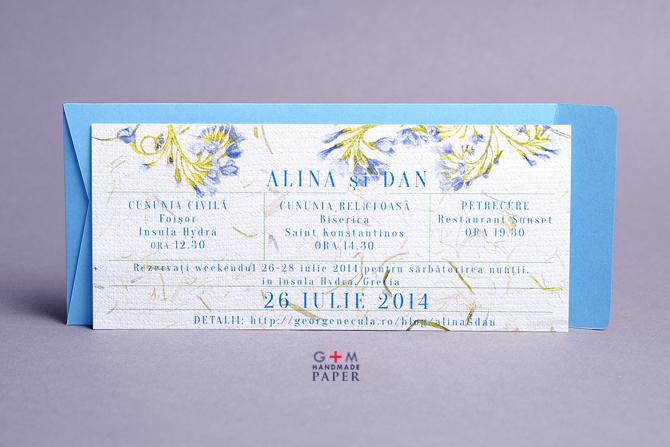 Invitatii pentru nunta in Grecia