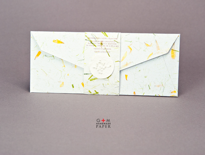 Sigiliu din hartie pentru plic