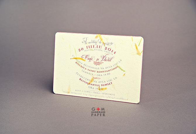 Invitatii vintage carte postala
