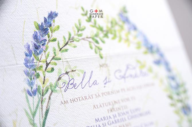 Text pentru invitatie de nunta culoare violet natur
