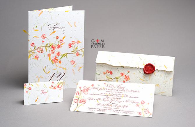 Nunta cu flori vesele rosii