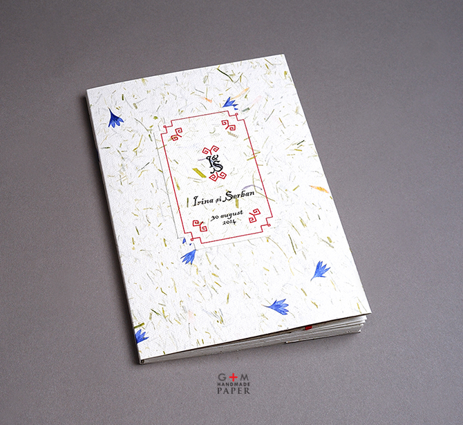 Caiet de amintiri pentru nunta - Natural wedding guest book