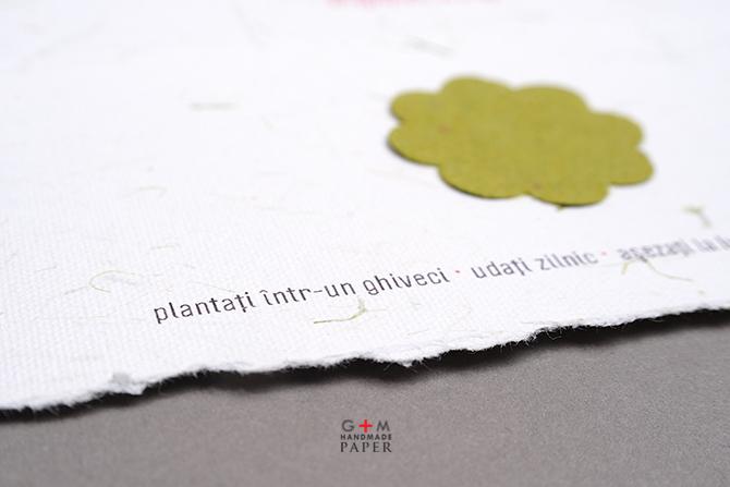 Hartie plantabila culoare verde
