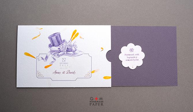 Invitatii cu hartie plantabila printata