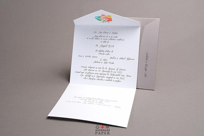 Invitatii cu logo pentru nunta cu tema parfum