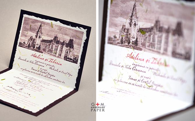 Invitatii de nunta cu palat Iasi