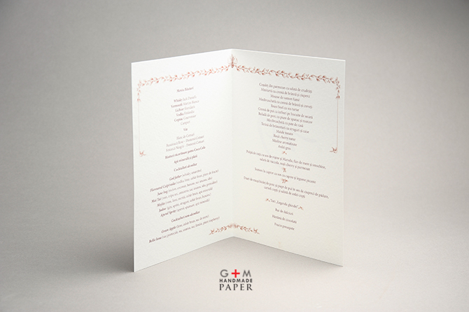 Acorns wedding menu