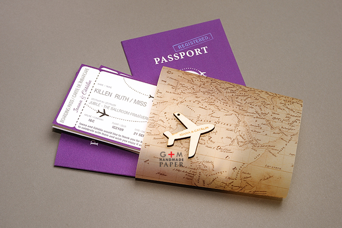 Holiday - Travel Theme Wedding stationery