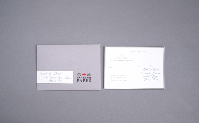 Post card custom made elegant