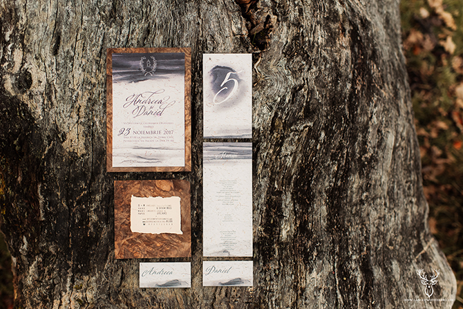 6-black-watercolor-and-wood-wedding-invitations