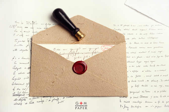 Handmade paper Envelopes with seal